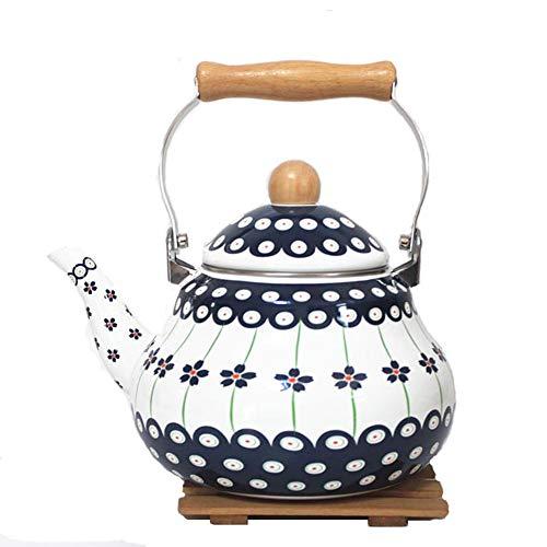 Hervidor De Cocina Porcelana Esmaltada Hecho A Mano Azul Puro 2L / 2.5L 2L