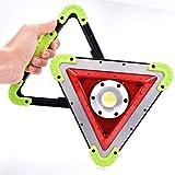 JIE-J Lampe De Travail Portable À LED, Avertissement d'urgence Circulation Triangle COB Rechargeable Portable...