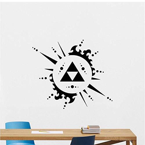 Legende Von Zelda Triforce Wandtattoo Videospiel Vinyl Aufkleber Dekor Poster Zusammenfassung Abnehmbare Wandaufkleber Wohnzimmer 56X64Cm