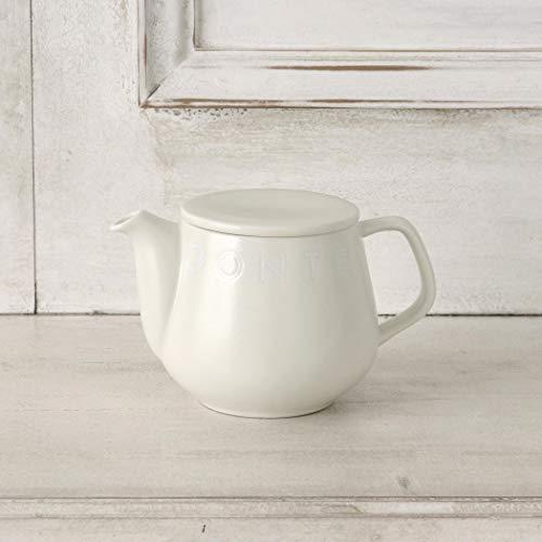 [ アフタヌーンティー リビング ] AfternoonTea LIVING ティーポット GK64 ロゴワークス 茶漉し 付き ポット ホワイト