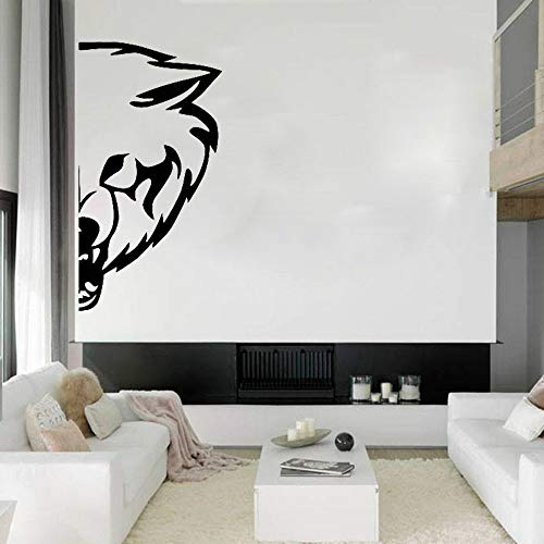 Tianpengyuanshuai Fototapete Wolf Hund Tier Schlafzimmer Design Dekoration Wolf Vinyl Wandtattoo 63x118cm
