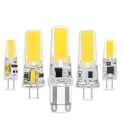 ZeZhen Lampadine a LED Lampadina LED ha condotto la luce bianca della PANNOCCHIA E14 G4 G9 DC AC / 12V 220V 3W 6W for Spotlight sostituzione Lampadario Illuminazione Lampada alogena Lampade a LED