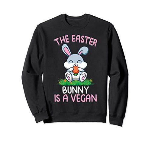 El Conejo de Pascua es un Vegano Citas Divertidas de Pascua Sudadera
