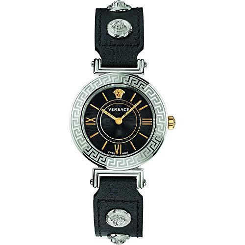 Versace Homenaje Reloj de cuarzo con esfera negra VEVG00120