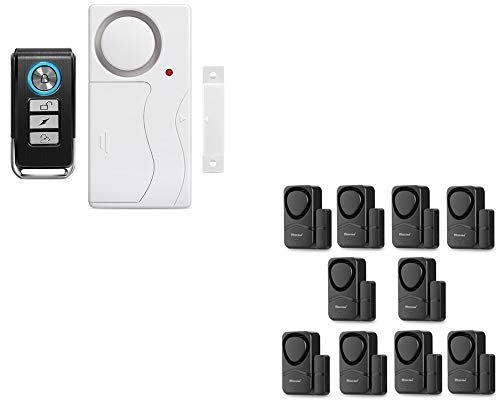 Wsdcam Door Alarm with Remote & 10pcs Window Door Alarms for Home Security Kids Safety Pool Safety