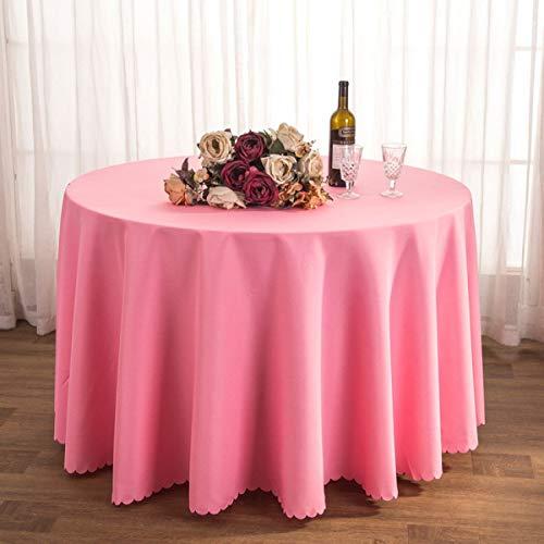 GCXZB Mantel Tela Tela Mantel de té Restaurante Restaurante Poliéster Mantel Conferencia Mesa Falda Boda Jacquard Mantel Redondo Resistente al Aceite Fácil de Limpiar (Color: L, Tamaño: 160 cm)