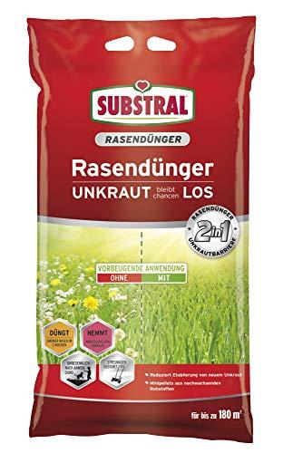 Substral 2in1 Rasendünger Unkraut bleibt chancenLOS - natürlich unkrautfreier Rasen, 9,1 kg bis zu 180 qm