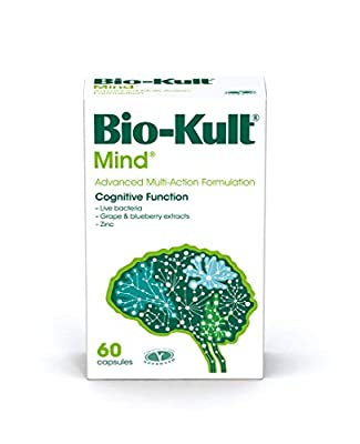 Bio-Kult Mind Live Bacteria Supplement Targeting Cognitive Function with Added Wild Blueberry and Grape Extracts, Zinc Citrate, 42 g BK-055