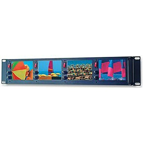 LCD-Monitore Rackmount 4x 10,2cm Audio Visual LCD-Bildschirme/Monitore, LCD-Monitore, Rackmount 4x 10,2cm Externe Breite: 489mm, Gewicht: 1,49kg