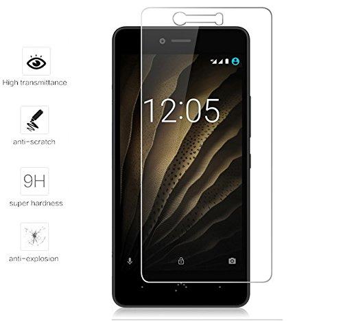 Tumundosmartphone Protector Pantalla Cristal Templado para BQ AQUARIS U/U Lite/U Plus Vidrio