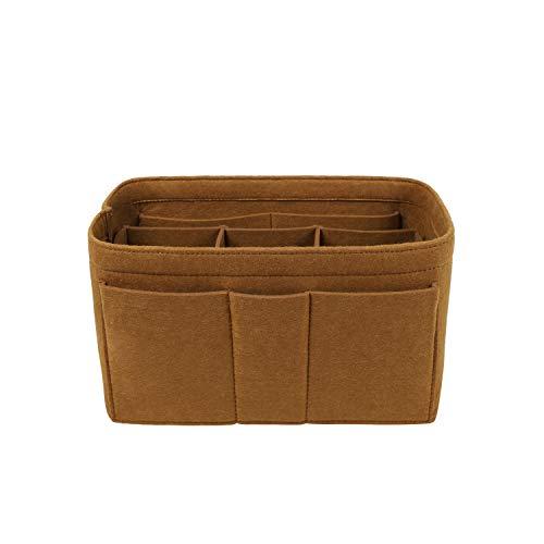 Purse Organizer Insert, Felt Bag Organizer For Handbag Purse Organizer,13 Colors, 6 Size (Large, Light Coffee)
