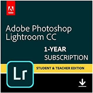 Adobe Photoshop Lightroom CC plan Student and Teacher | 1 Year Subscription (PC Download)