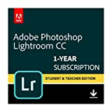 Adobe Photoshop Lightroom CC plan Student and Teacher | 1 Year Subscription (Mac Download)