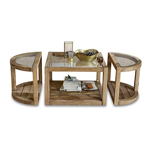 Loberon Tavolino da Salotto Hyllorian, Marrone Antico