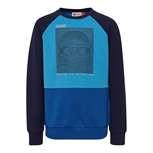 Lego Wear Jungen LWSIAM 784-SWEATSHIRT Sweatshirt, Blau (Blue 553), (Herstellergröße: 110)