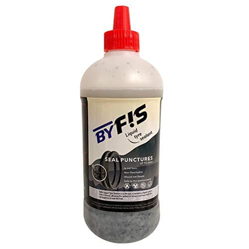 BYFIS Líquido para tubeless de Efecto inmediato. Antipinchazos para Bicicletas MTB y Carretera con aplicador. Sellante para bicis, Motos y patinetes eléctricos de Larga duración. Uso Sencillo, 500ml