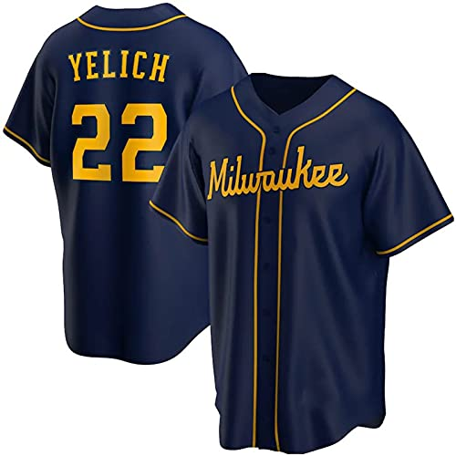 2021 Elite Version Baseball Jersey n#22 Baseball Fan Jersey,Hombre Mujer Verano Deporte Respirable Camisa,(S-3XL),S4,S