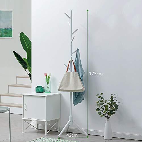 POETRY Jas Stand Jas Stand Eenvoudige Stand Massief Hout 8 Haken 175 cm Home Slaapkamer Opslag A ++ (Kleur: Rood)