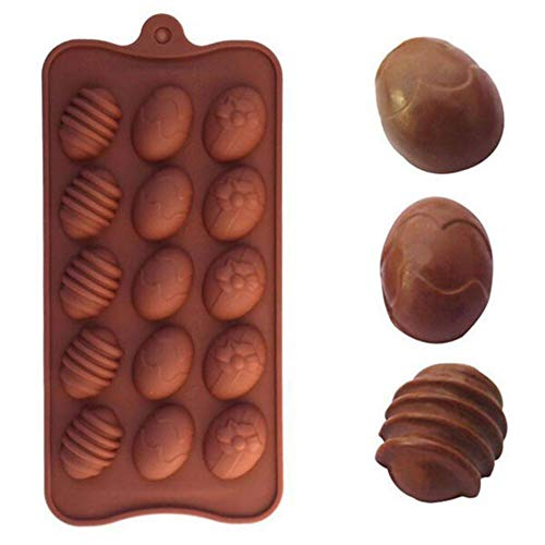 Moldes de chocolate en forma de huevo de silicona molde de chocolate para hornear pastel de hielo molde de fondant herramienta de decoración de productos de cocina
