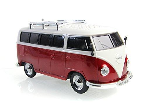 Nostalgie Bully - Box   Bulli Bus T1 Modell   Radio  ROT   Deutsche Bedienungsanleitung