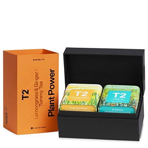 T2 Tea Plant Power - Herbal Tea Gift Pack, 2 Loose Leaf Herbal Tea in Mini Tin, 50g
