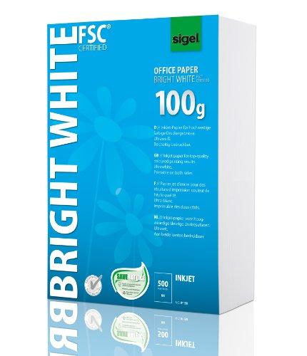 SIGEL IP150 InkJet-Papier A4 ultraweiß, beidseitig bedruckbar, 100 g, 500 Blatt