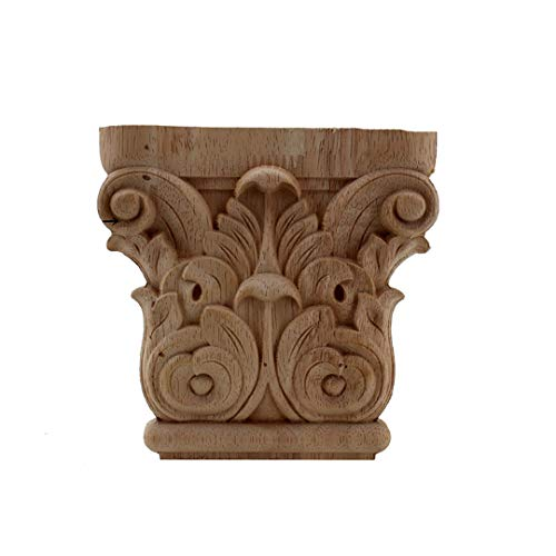 Vintage Floral Carved Corner Wall Door Furniture Decorative Figurines Wood Appliques for Home Decor Decoration Accessories 30cmX30cm