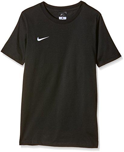 Nike 658494-010 T- T-Shirt Garçon Noir, logo Blanc FR : M (Taille Fabricant : M)