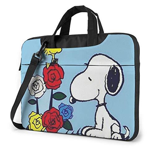 13 Inch Laptop Bag Snoopy & Woodstock Laptop Briefcase Shoulder Messenger Bag Case Sleeve