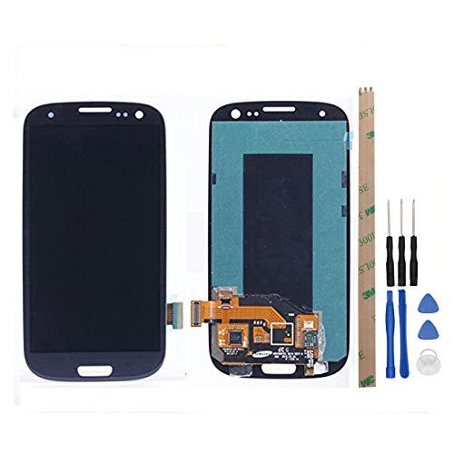 HYYT - Pantalla LCD de Repuesto para Samsung Galaxy S3 i9300 i9305 i535 T999 i747 y digitalizador de Pantalla táctil
