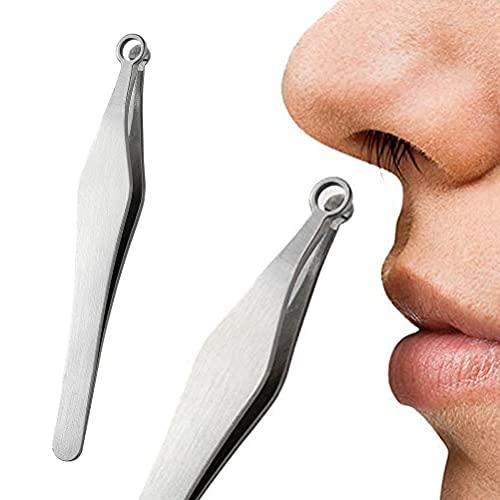 Guillala 1 Männer Nasenhaarschneider Pinzette Nasenhaar Trimmer Leicht Manuelle Nasenhaarentfernung Pinzette aus Edelstahl Schön für Nasenhaar