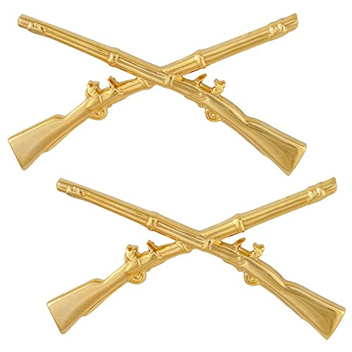 US Army Infantry Officer Insignia Pair