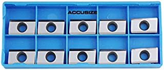 Accusize Industrial Tools Apkt160408-Lh Carbide Inserts for Machining Aluminum, 10 Pcs, 0058-1604x10