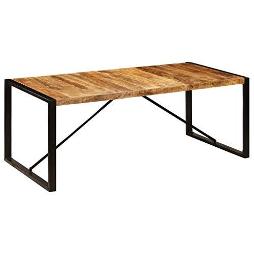 vidaXL Mangoholz Massiv Esstisch Antik Vintage Industriestil Küchentisch Holztisch Esszimmertisch Speisetisch Massivholztisch Tisch 200x100x75cm
