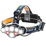 Myguru Lampada Frontale Ricaricabile Lampada da Testa Impermeabile 8 LED Torcia Frontale p...
