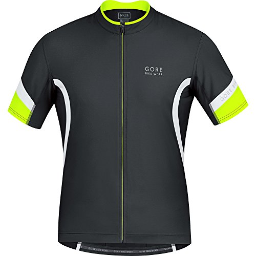 GORE WEAR Power 2.0 Maillot de Ciclismo, Hombre, Multicolor (Black/White), L