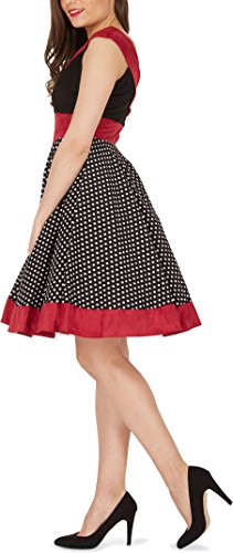 BlackButterfly 'Sylvia' Vintage Polka-Dots Pin-up-Kleid (Schwarz, EUR 40 – M) - 2