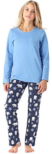 Merry Style Mädchen Jugend Schlafanzug MS10-229 (Blau Bär, 164)
