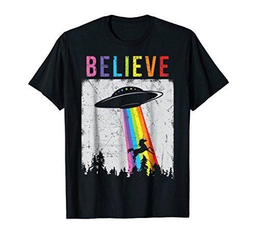 Alien Unicorn UFO Rainbow T-Shirt