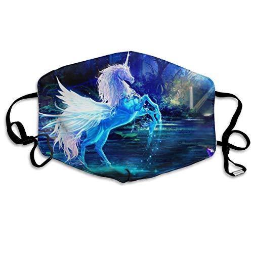 HOMECT Unisex-Gesichtsmaske mit Einhorn-Motiv, UV-Schutz, Halstuch, Stirnband