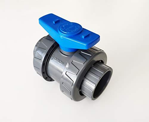 Vanne Interplast 50mm à coller double union démontable 5cm / 50 mm PN16 PVC PRESSION Piscine