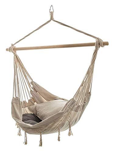 WERTYG Luxury Swing Chair Hammock, Hanging Chair Garden Swing Hammock Bedroom Hammock Seat/Yard/Garden, 100 x 130 cm