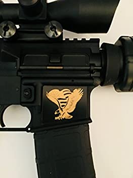 Tejas Products AR-15 Lower Magwell Customized Decal Sticker - Black - Eagle