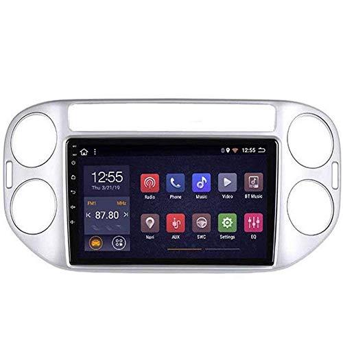 Radio de coche Android 8.1, GPS, pantalla táctil de 9 pulgadas, para Volkswagen Tiguan 2010 – 2018, con control en el volante, Bluetooth, manos libres, conexión DAB, USB, MP5 SWC, 4 G + WIFI1 G + 16 G