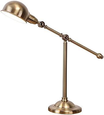 Susuo 北欧風 卓上ライト レトロ風 デスク スタンドライト LED対応 照明 おしゃれ テーブルランプ アーム式 調節可能 読書/寝室/仕事/等に最適 電球なし ss421822 ブロンズ