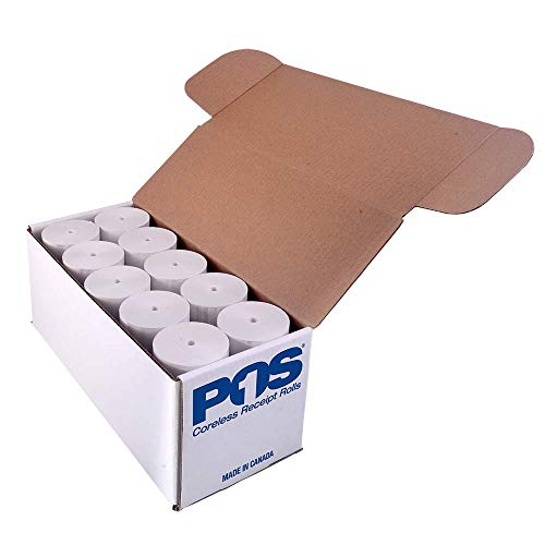 POS1 Thermal Paper Rolls 3 x 110 ft | 47mm diameter | fits Zebra iMZ320 | CORELESS | BPA Free | 30 rolls per case