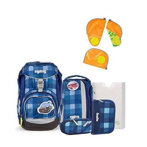 Ergobag Pack KaroalaBär 2016 Schulrucksack-Set 6tlg + Sicherheitsset Orange