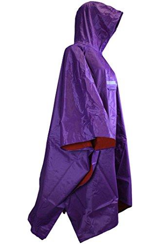 Sonia Originelli Regenponcho Regencape Fahrrad Jacke Regenschutz Rain Cape Herren Damen T-Cape4 (Lila)
