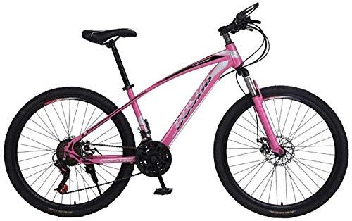 Qinmo Mountain Bike 26 Zoll 21-Gang Vordere und hintere Doppelscheibenbremsen, vorne Stoßdämpfung, Erwachsene Männer und Frauen mit Variabler Geschwindigkeit Mountainbike (Color : Gray)