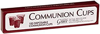 Living Grace Disposable Communion Cups Box Fits Standard Holy Communion Trays